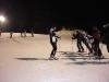 Nacht Ski Fahren